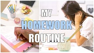 My school homework routine - How to do your homework fast-