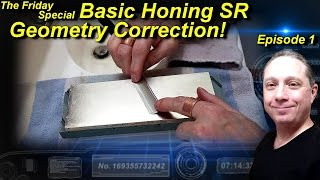 Basic Honing Straight Razor Geometry Correction Ep1