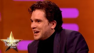 Kit Harington Lives With A Life Size Statue of Jon Snow From Game of Thrones -The Graham Norton Show