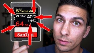 Choosing the Best SD Card for Video - Understanding All the Numbers and Symbols on SD Memory Cards