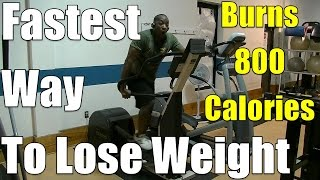 Fastest Way to Lose Weight - This 40min HIIT Elliptical Workout -Burns 800 calories-